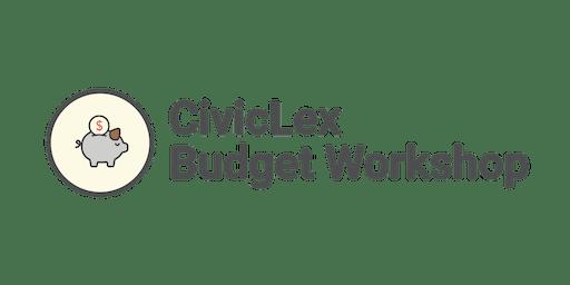 CivicLex Budget Workshop