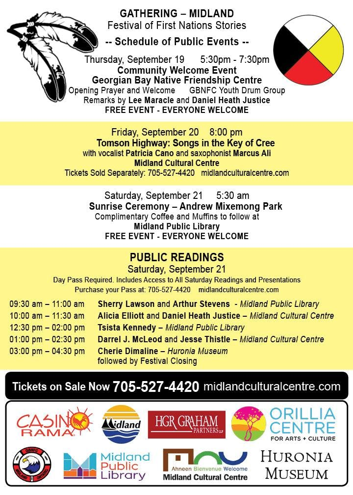 TOMSON HIGHWAY: Songs in the Key of Cree Tickets, Fri, Sep