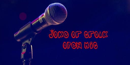 Stand-up Comedy in English.  Joke or Croak Open Mic.