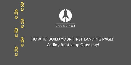 Coding Bootcamp Open Day: How to build your landing page tickets