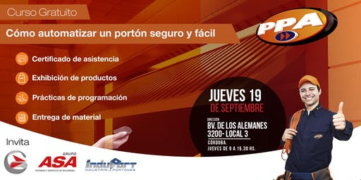 """Curso """"Armado y Automatización de portones"""" / Gratuito/ Córdoba 19/9"""