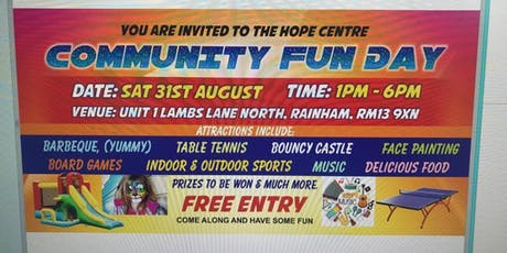 HOPE CENTRE COMMUNITY FUN DAY. RAINHAM ESSEX tickets