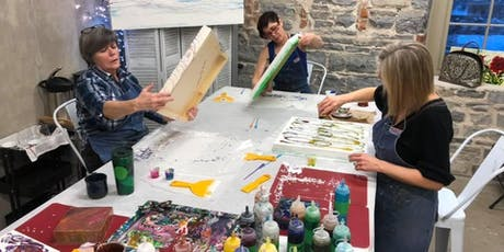 Liquid Glass Level 2; A Pouring Medium Workshop at the Farm tickets