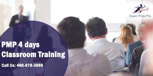 PMP 4 days Classroom Training in Shreveport,LA