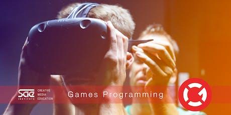 Workshop: Games Programming - Fundamentals mit Unity und C# tickets