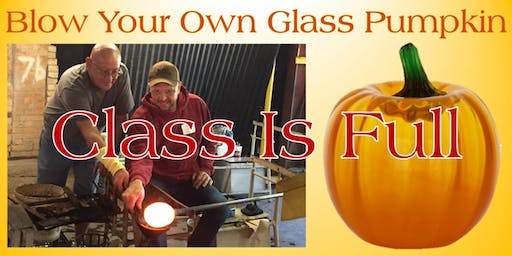 Blow Your Own Glass Pumpkin - Saturday, September 21 at 1:00pm