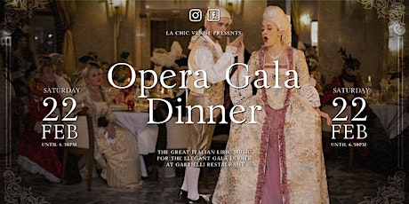 OPERA GALA DINNER  - The great italian music for the elegant gala dinner - entradas