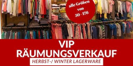 VIP LAGERRÄUMUNGSVERKAUF Tickets
