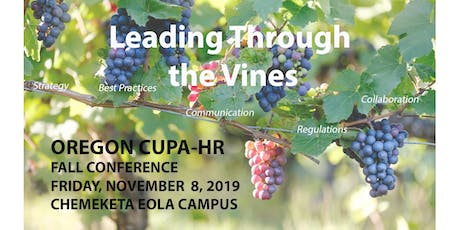 Oregon CUPA-HR Fall 2019 Conference tickets