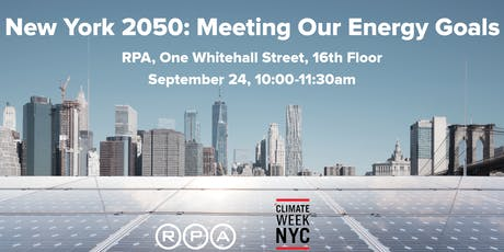 New York 2050: Meeting Our Energy Goals tickets