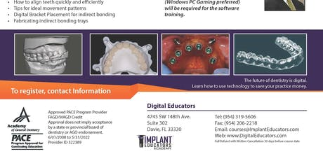 In Office Restorative, Surgical Guides, & Orthodontic Aligners 3D Printing tickets