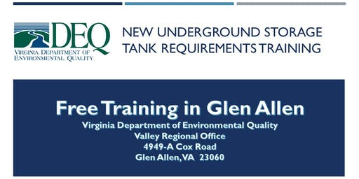 Underground Storage Tank Regulation Training - Glen Allen