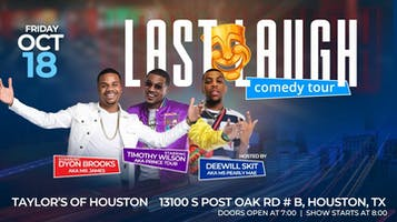 Last Laugh Comedy Tour Starring Timothy Wilson & Dyon Brooks