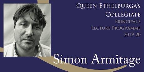 Simon Armitage - 'A Poetry Reading by Simon Armitage' tickets