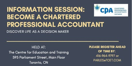 Chartered Professional Accountant Information Session tickets