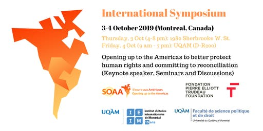 3-4 Oct. 2019 International Symposium: Opening up to the Americas