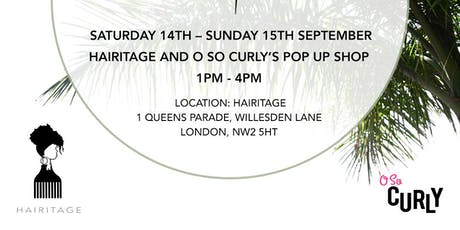 O So Curly Pop Up Shop @ Hairitage tickets
