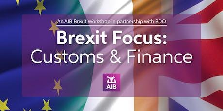 AIB Brexit Workshop|Customs & Finance|Dublin tickets
