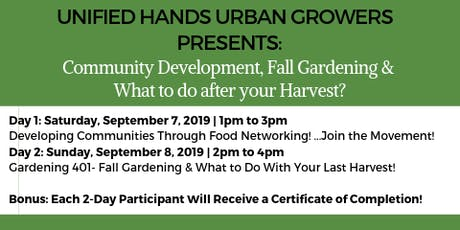 Unified Hands Fall Gardening & More Workshop 2019 - Dallas, TX tickets