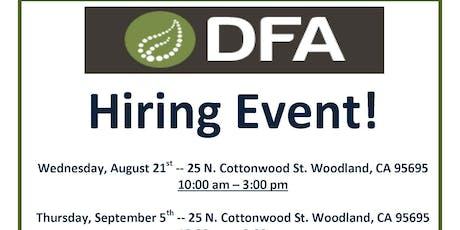 Safe Food Alliance/DFA tickets