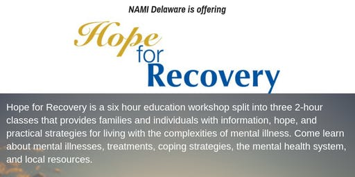 3 Class Hope For Recovery at Sun Behavioral Sept 24-26