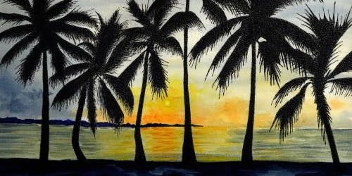 Tropical Paint & Sip Night