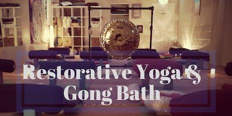 Restorative Yoga & Gong Bath tickets