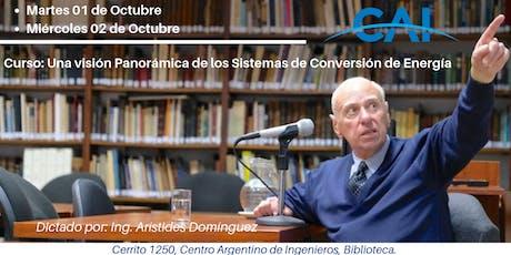 Curso: Una visión Panorámica de los Sistemas de Conversión de Energía entradas
