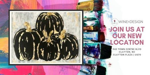 Sip + Paint | Gold Pumpkins