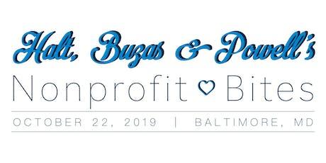HBP's Nonprofit Bites: October, Baltimore tickets