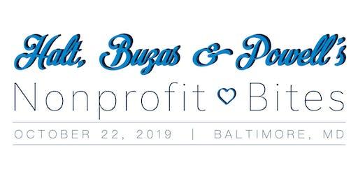HBP's Nonprofit Bites: October, Baltimore