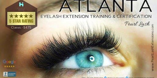 Classic Eyelash Extension Training Hosted by Pearl Lash Atlanta, GA