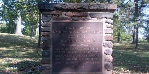 TREES AND BIKES- Centennial Celebration Druid Hill Park World War Memorial Oak Grove