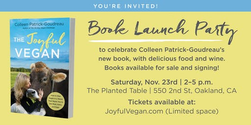 Book Launch Party: The Joyful Vegan