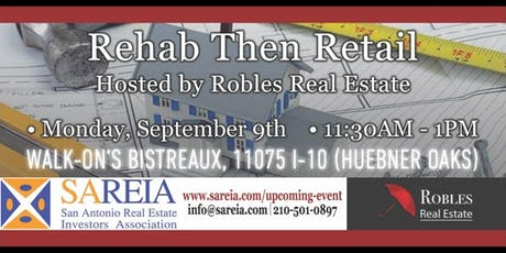 Real Estate Investing: Rehab then Retail tickets