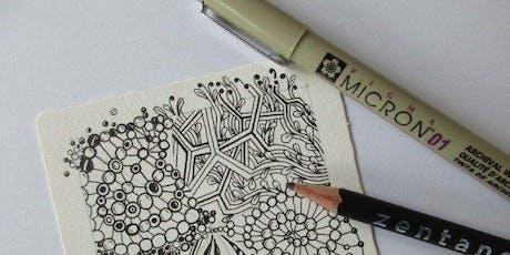 Zentangle Zeichnen-Workshop inkl. Live Musik Tickets