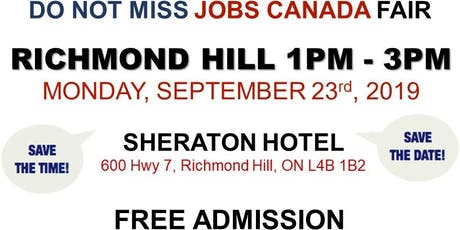 Richmond Hill Job Fair – September 23rd, 2019 tickets