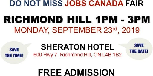 Richmond Hill Job Fair – September 23rd, 2019