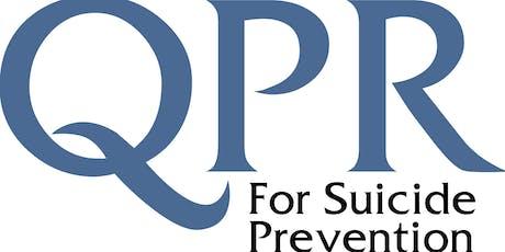 QPR Suicide Prevention training (September 27, 2019) tickets