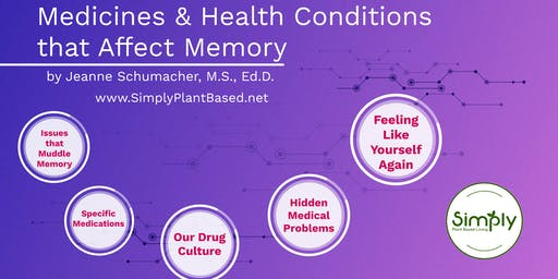 Living WFPB: Medicines & Health Conditions that Affect Memory