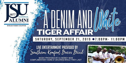 A Denim and White Tiger Affair
