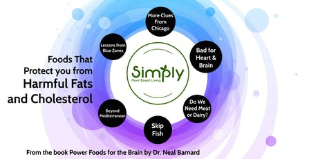WFPB Foods that Protect You from Harmful Fats and Cholesterol -Lecture/Demo tickets
