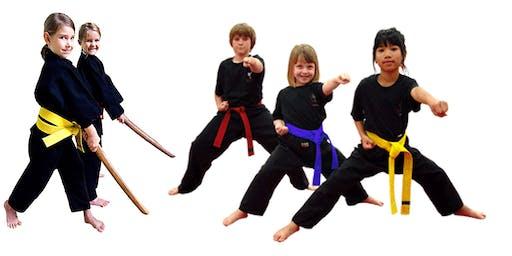 Corso Ninja gioco bambini - lezione inaugurale