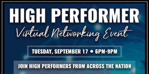 High Performer Virtual Networking Event