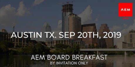 AEM Board Welcome Breakfast tickets
