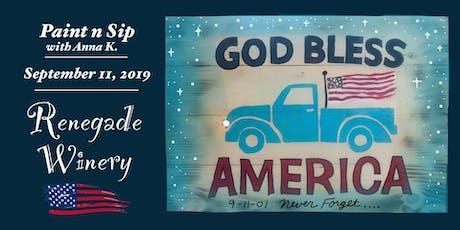Paint n Sip- America! tickets