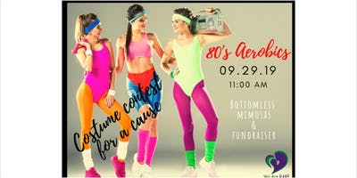 80's aerobics and mimosa's for a cause