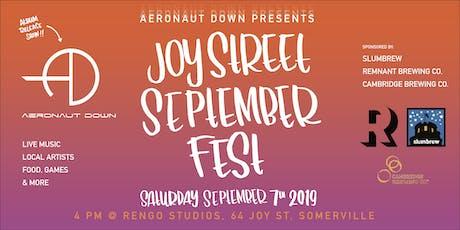 Joy Street September Fest tickets