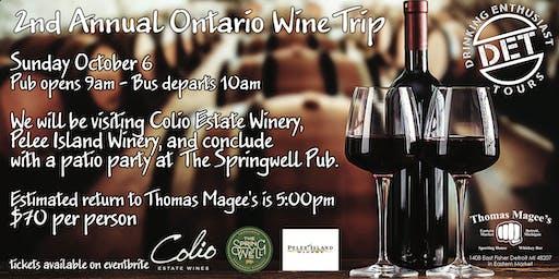 Thomas Magee's Annual Ontario Wine Tour