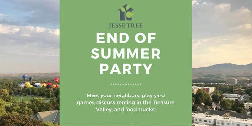 Jesse Tree End of Summer Party!
